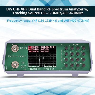 Uhf Vhf 2 Band Rf Spectrum Analyzer W Tracking Source 136-173mhz400-470mhz Bnc