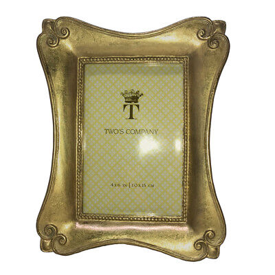 Two's Company - 4x6 Gold Foil Frames - Baroque ()
