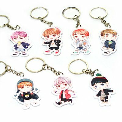 Kpop Bts Bangtan Boys Keychain Key Ring Bag Clip