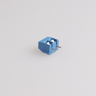Free Shipping 5mm 10pcs 2pin Screw Terminal Block Connector Pitch Blue
