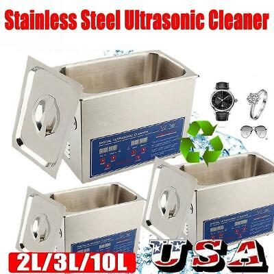 Stainless Steel 2-10 L Liter Industry Heated Ultrasonic Cleaner Heater W Timer
