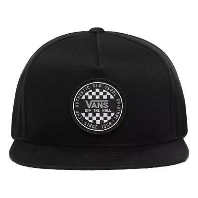 Vans NEW Mens OG Checker Snapback Cap - Black BNWT