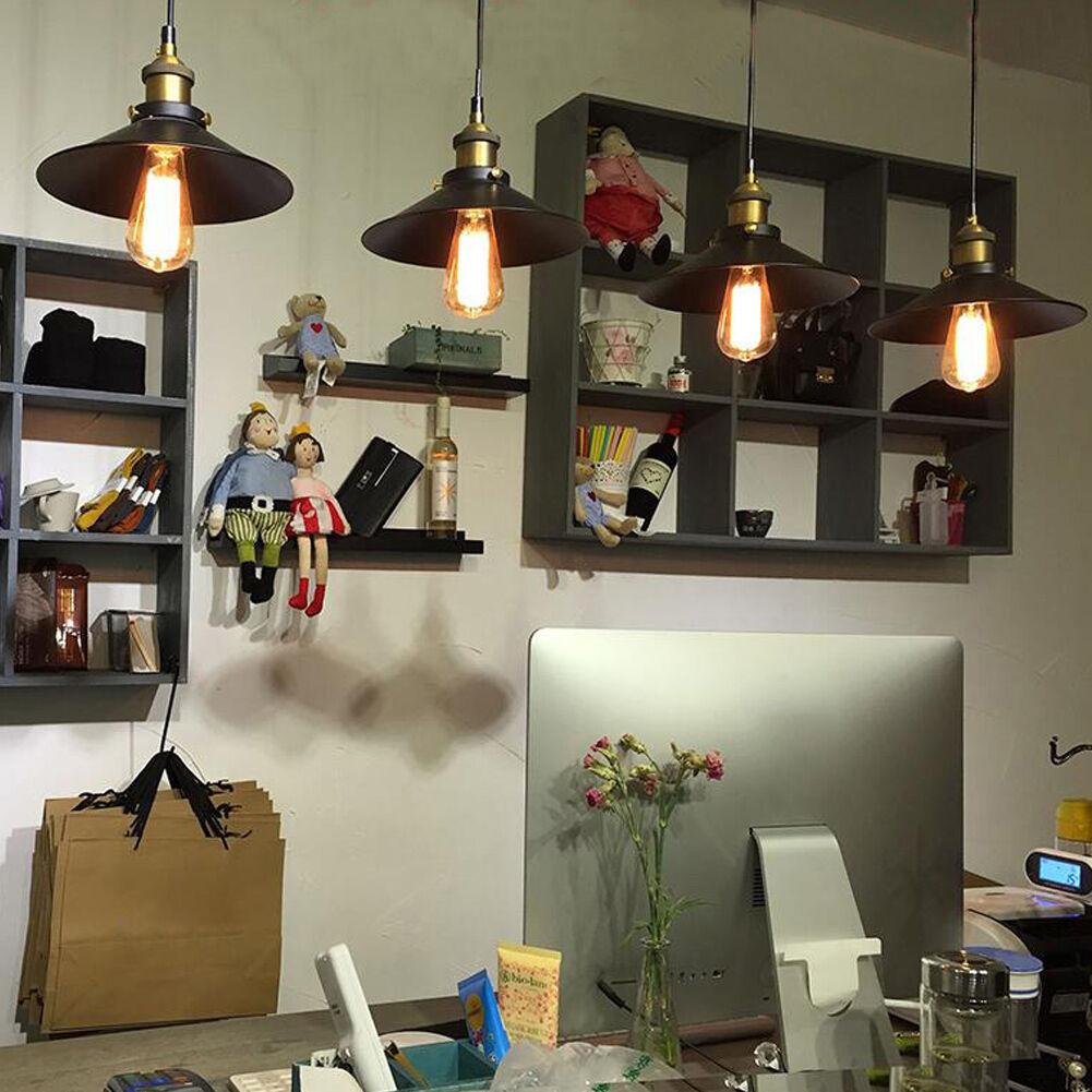 fixture ceiling lamp retro industrial iron vintage pendant light deco chandelier ebay. Black Bedroom Furniture Sets. Home Design Ideas