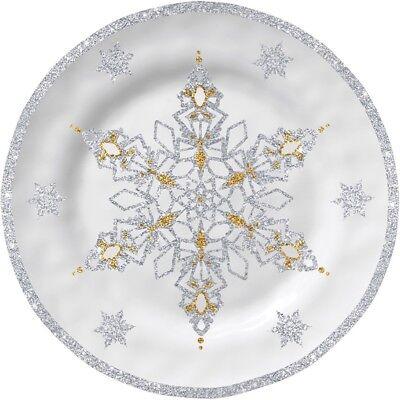 - Merritt - Melamine Appetizer Plate - Snowflake Dreams - Set of 4 - 6