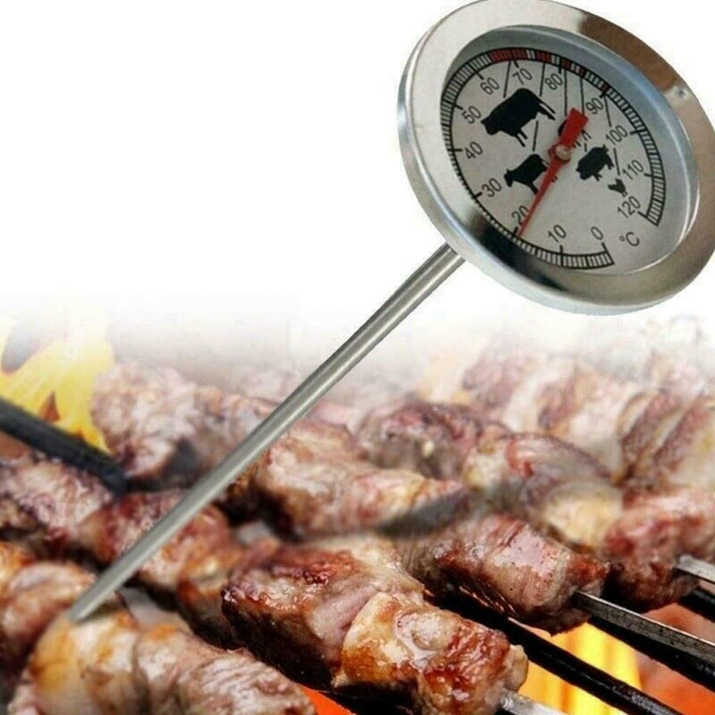 Stainless Steel Instant Read Probe Thermometer BBQ Cooking F