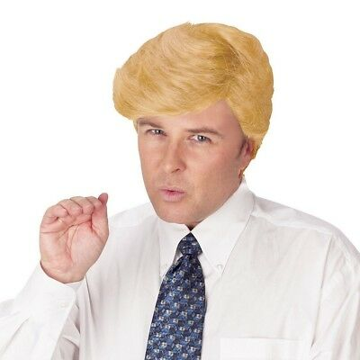 Donald Trump Comb Over Adult Wig Blonde President U.S. Halloween Costume USA](Comb Over Halloween Costume)