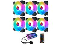 Coolmoon 120mm RGB Cooling Fans 6Pack
