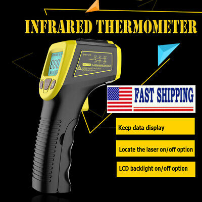 Industrial Thermometer Non-contact Lcd Digital Ir Laser Infrared Temperature Gun