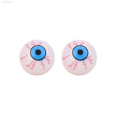 Fake Eyes Halloween (8047 White Halloween Fake Eye Ball Scary Horror Cosplay Prop Party Haunted)