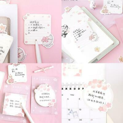 Cute Cherry Blossoms Memo Pad Sticky Notes Stationery Office School Supplies Hot