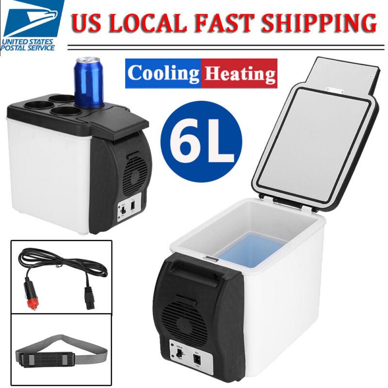 6L Portable Car Refrigerator Auto Electric Cooler Warmer Fridge for Travel