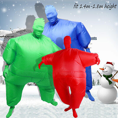 HOT INFLATABLE FAT SUIT ADULT CARRY FULL BODY BLOW UP FANCY DRESS COSTUME PARTY
