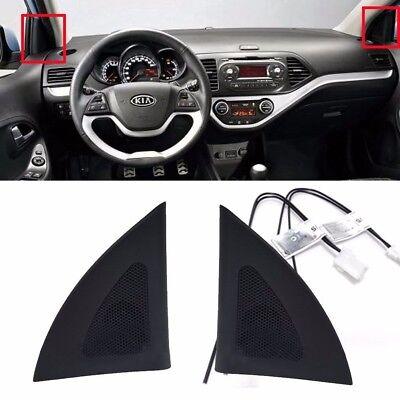 OEM Steering Wheel Ornament Cover Glossy Black 1EA for KIA 2011-2016 Picanto
