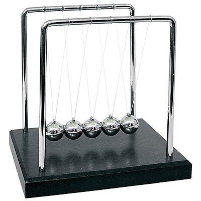 Newtons Cradle Physics Balance Balls Pendulum 5 Metal Balls Desk Gift Toy Tg12