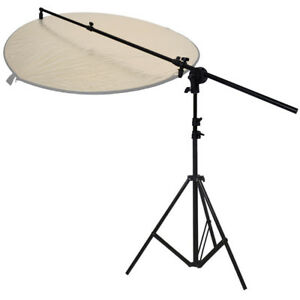 PhotR Collapsible Reflector Holder Boom Arm + 2m Photo Studio Light Stand Tripod