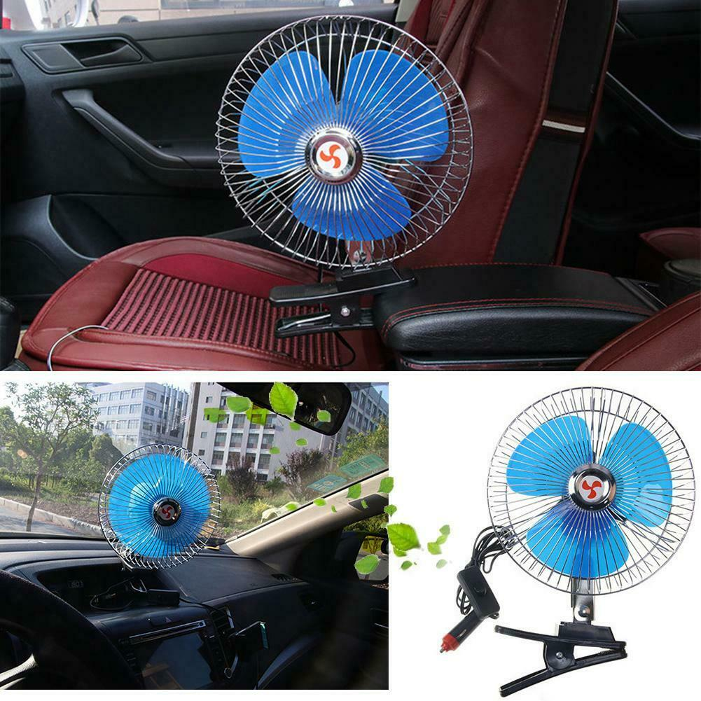 """Portable 8"""" Car Truck Oscillating Clip-on Air Fan Strong Win"""