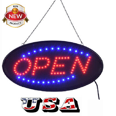 Ultra Bright Led Neon Light Animated Motion W Onoff Open Business Sign Us Plug