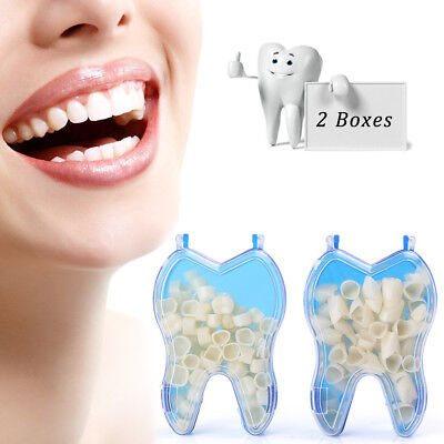 Temporary Porcelain Crown Posterioranterior Teeth Caps Molar Resin Dental 2sets