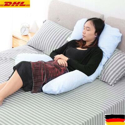 Mutterschaft Schlaf Kissen (U-förmig Ganzkörper-Mutterschaftskissen Schwangerschaftspflege Schlafstütze Blau)