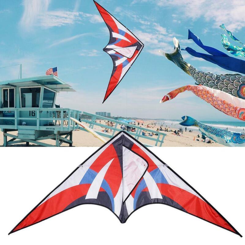 "Huge Rainbow Delta Kites for Kids & Adults-47"" Wide w/ Strip"