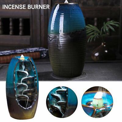 61pezzi Ceramica Fumo Cascata Riflusso Bruciatore Incenso Incensiere Coni regali