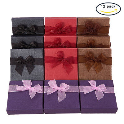 1 Set Valentines Day Gifts Boxes Cardboard Bracelet Boxes 90x90x27mm 12pcs/set