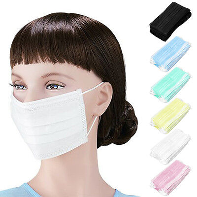 New 3-ply Earloop 50pcs Medical Face Mouth Masks Dental Nail Health Disposable