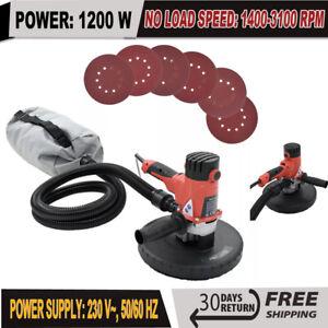 Drywall Sander Hand Held Dust Free 1200W Sanding Plaster Wall Ceiling Tool 225mm