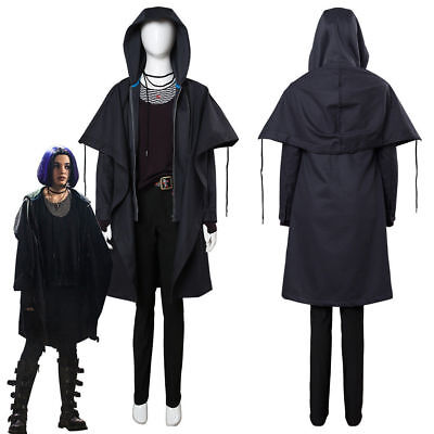 Teen Titan Cosplay (New Teen Titans Rachel Roth Raven Cosplay Costume Outfit Hooded Jacket)