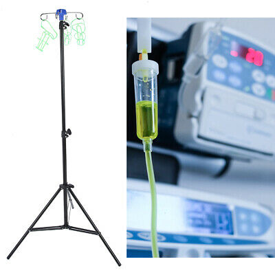 Portable Iv Pole Drip Bag Stand Foldable Pole Stand For Clinic Home Care