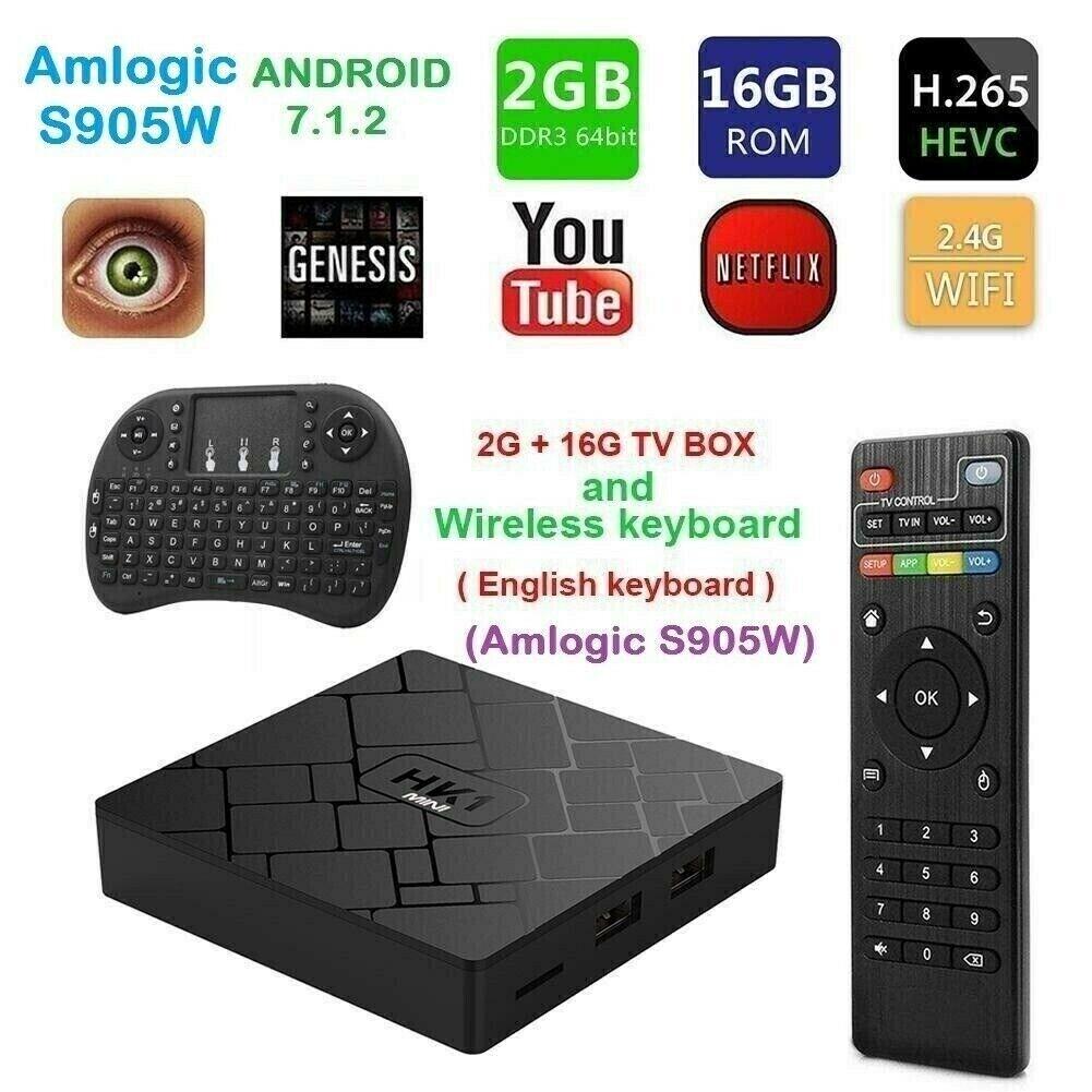 NEW 2019 HK1 Mini 2GB+16GB Android 7 1 2 Quad Core S905W Smart TV Box IPTV  BOX KODI & mini keyboard | in Bradford, West Yorkshire | Gumtree