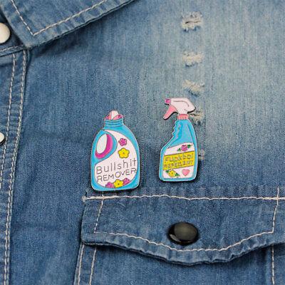 Lovely Laundry Detergent Hat Bag Jacket Collar Badge Enamel Brooch Pin New Trend