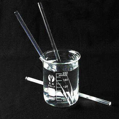5 Pcs Glass Stirring Rod For Lab Use Stir Stiring Stirrer Laboratory 150mm X 5mm