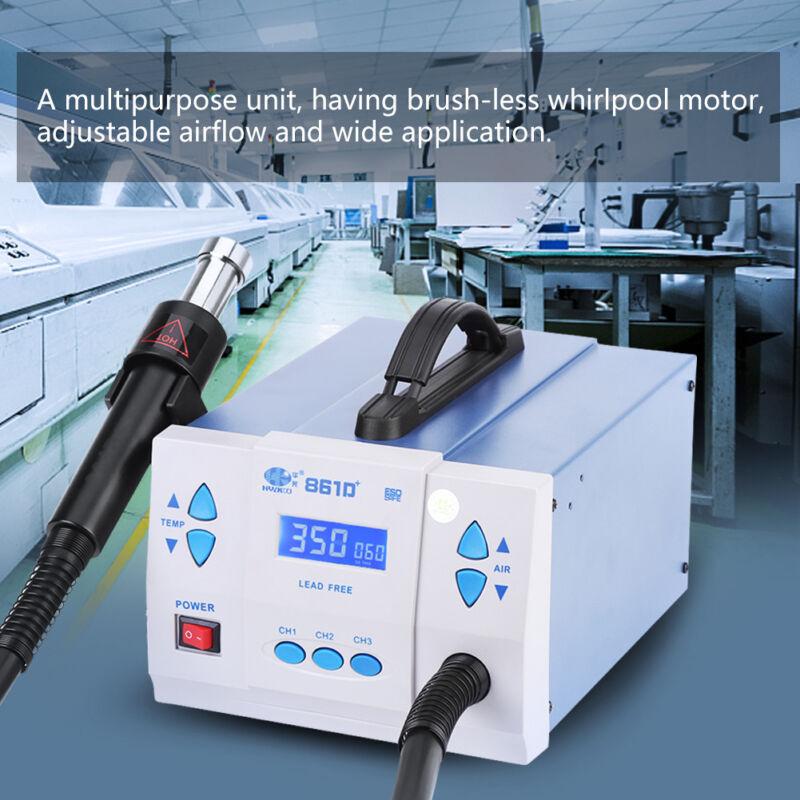 Quick 861D + 1000W Rework 110V Hot Air Gun Digital Soldering Station Machine US