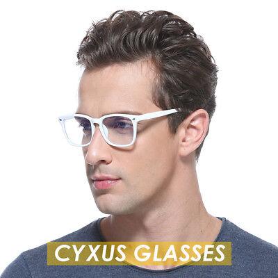 Cyxus Blue Light Filter Computer Gaming White Glasses Reduce Eye Strain Anti (Eye Strain Reducing Glasses)