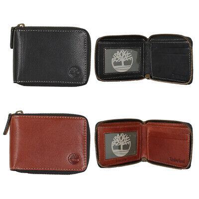 Timberland Men's Genuine Leather Cavalieri Zip Around Wallet Clothing, Shoes & Accessories