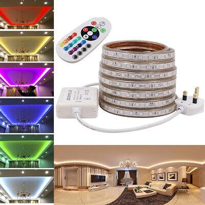 220V RGB Led Strip Lights 5050 Commercial Rope IP67 Waterproof Garden Kitchen