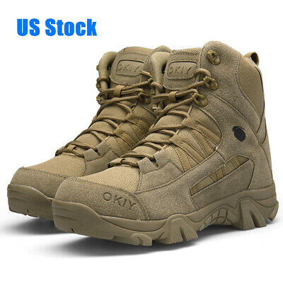 Hiking Shoes for Men Climbing Fishing Outdoor Trekking Waterproof High-Cut-Boots