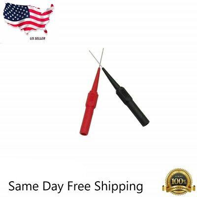 Needle Tipped Tip Multimeter Probes Test Leads 4 Fluke Tester 600v 1a 4mm Socket