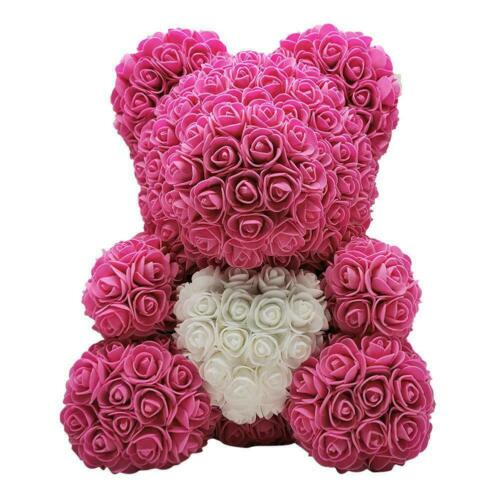 Rose Teddy Bear Foam Flower Wedding Valentines Birthday Gift USA SELLER
