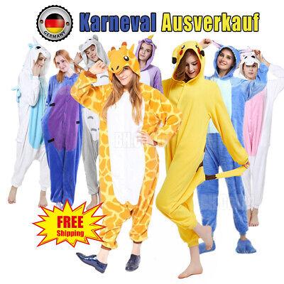 Unisex Karneval Kigurumi Erwachsene Kostüm Cosplay Tier Pyjamas Nachtwäsche DE