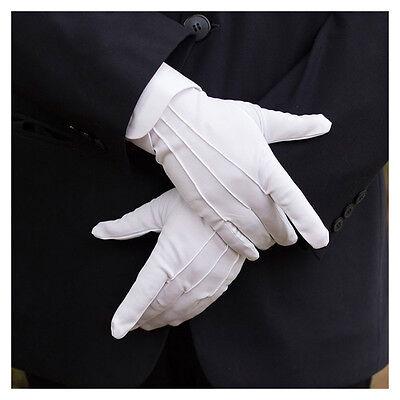 Hot Weiß Formelle Handschuhe Smoking Honor Guard Parade Santa Herren Inspektion