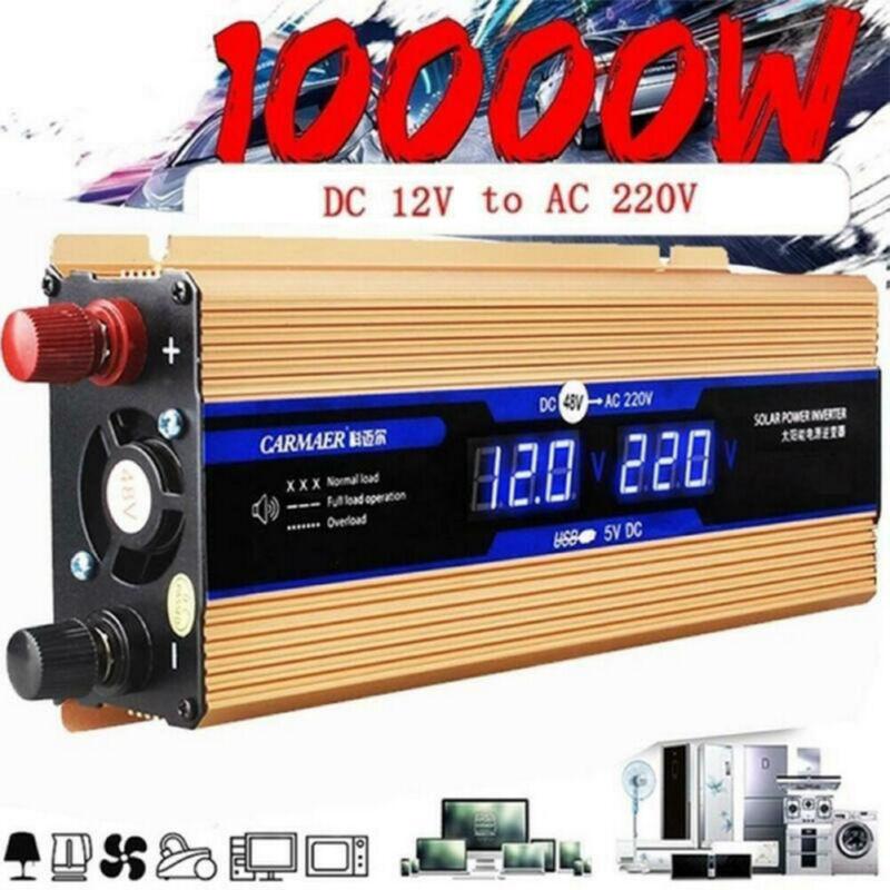 Solar Power Inverter 10000W 5000W DC12V To AC 220V D