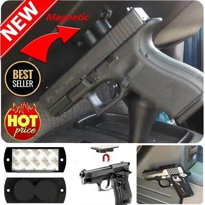 Magnet Holster Gun Pistol Rifle Magnetic Holder Car Under Desk Mount Safe Stand