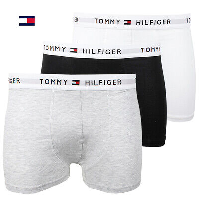 Tommy Hilfiger Men's 3 Pack Boxer Briefs Underwear Cotton Stretch Trunks Clothing, Shoes & Accessories