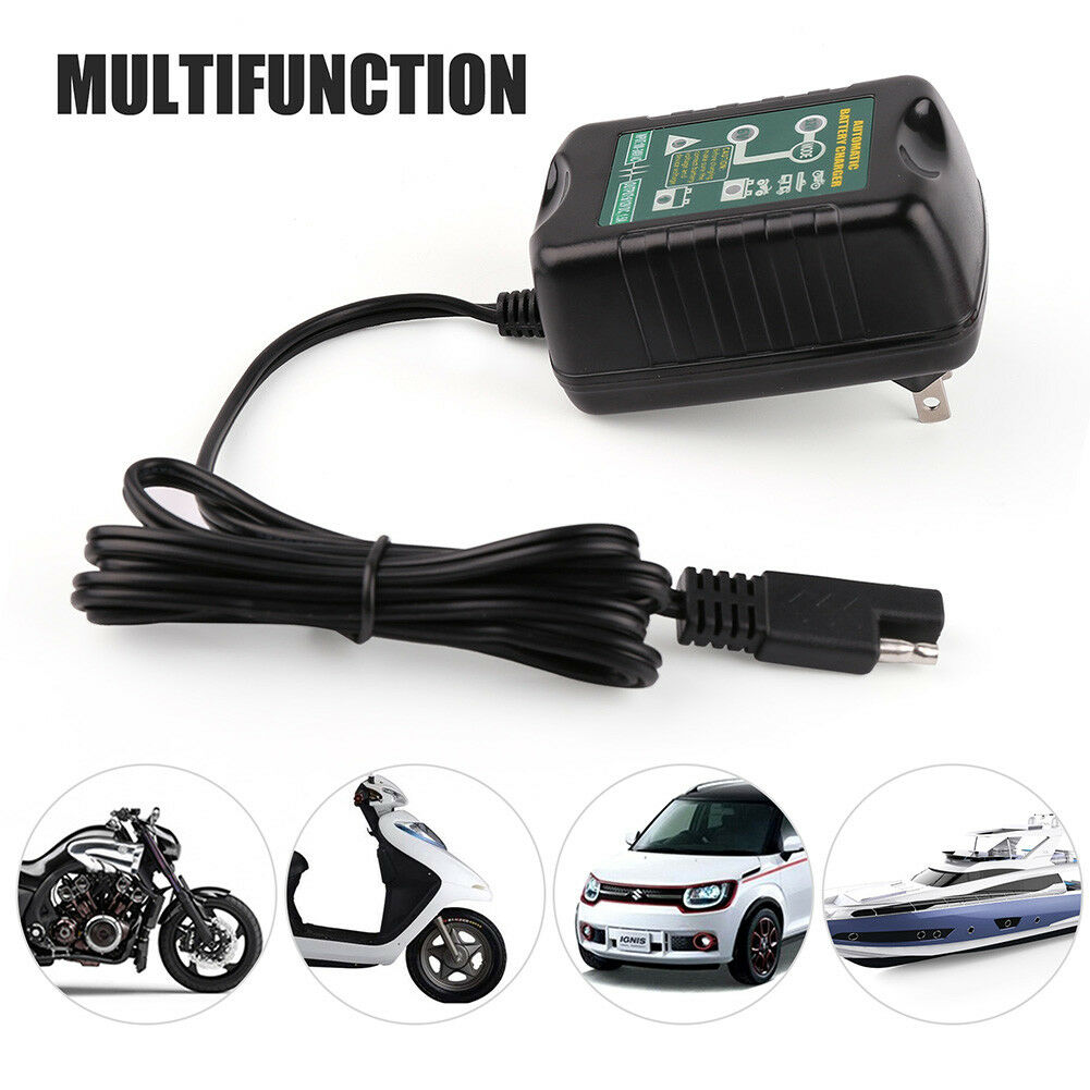 Automatic Battery Charger Maintainer 6V 12V For Tender Motorcycle ATV Boat Car
