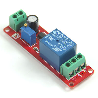 1x New DC 12V Delay Timer Switch Adjustable Module 0 to 10 Second