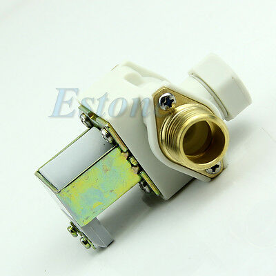 New Electric Solenoid Valve 12 For Ac 220v Water Air Nc Normally Closed