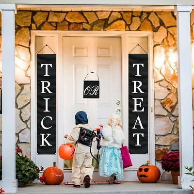 3pc Trick Or Treat Halloween Door Banner(72in x 14in) Indoor/Outdoor Decoration - Halloween Indoor Decorations