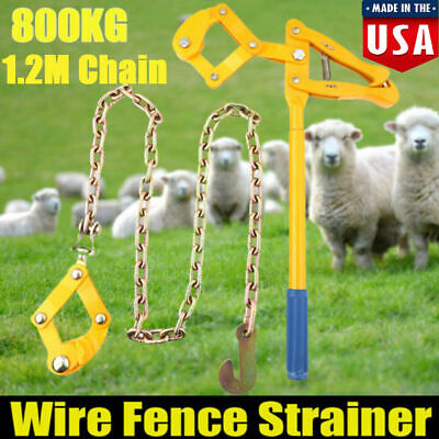 4ft Chain Strainer Cattle Barn Farm Fence Stretcher Tensioner Repair Barbed Wire